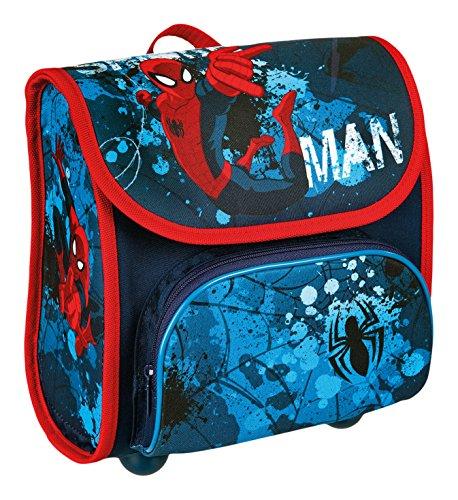 Scooli Vorschulranzen Spiderman, ca. 23 x 21 x 11 cm Kinder-Rucksack, 4,5 Liter, blau