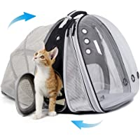 Expandable Front and Back Cat Backpack Carrier, Dual Expandable Space Capsule Transparent Clear Bubble Pet Carrier for…