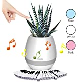 ONE SMILE Pot di musica intelligente, Bluetooth Wireless altoparlanti Stereo, carica da USB, luce colorata notte, compleanno o regalo di Festival (pianta non incluso