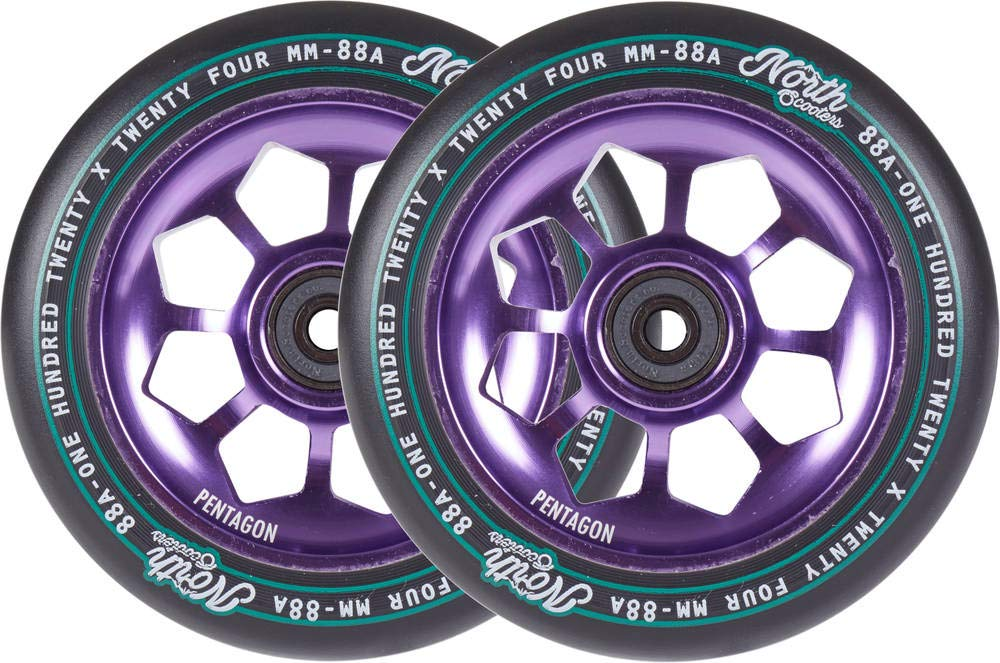 North Pentagon 120mm Ruedas Scooter 2 Unidades (120mm - Lila ...