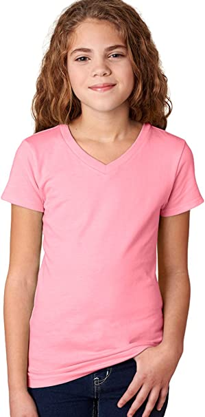 SO Purple Solid V-Neck Short Sleeve Tee Shirt Girls Youth Sz 6,16