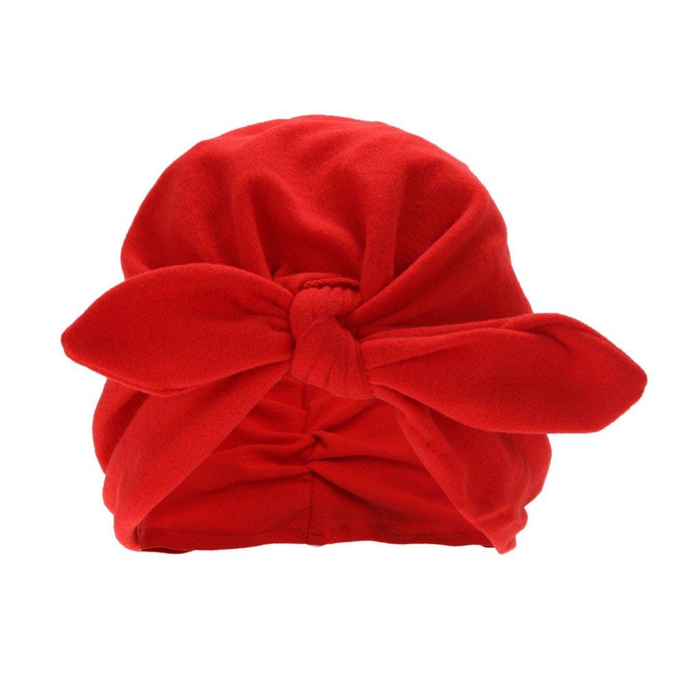 Domybest Newborn Baby Lovely Hats Kids Children Turbans Caps Children Headwear Wrinkle Hat