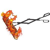 "Aboniris Indoor and Outdoor Fireplace Tongs, 26"" Long, Log Grabber, Campfire Tongs, Bonfire Accessories, Outdoor Fireplace Tools, Fire Pit Tool"