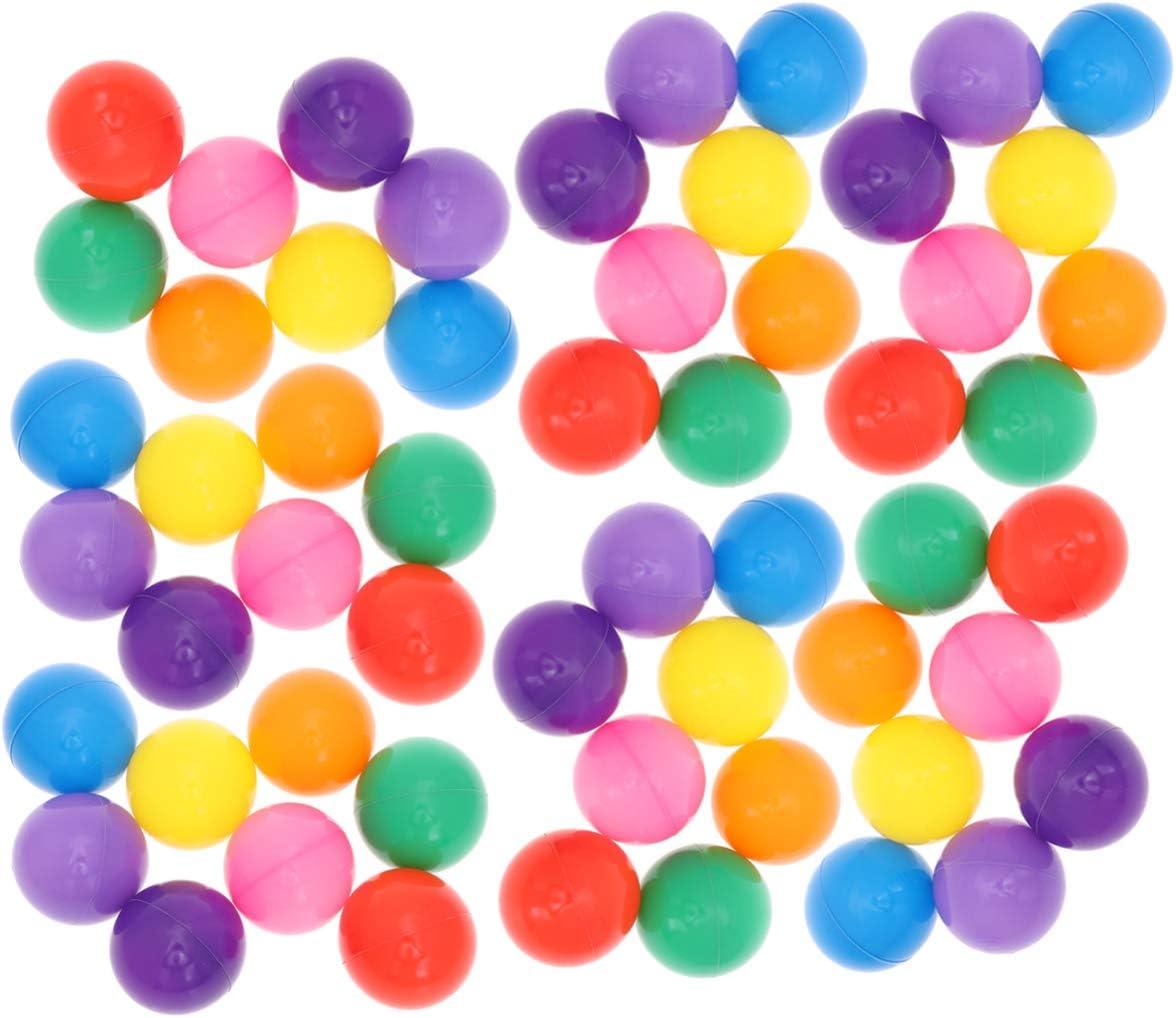 LIOOBO 200pcs 5.5cm Bolas de plástico Coloridas de la Bola del océano para bebés niños Fiestas de cumpleaños Juegos Juegos Infantiles Piscina (Macaron Bolsa de Malla de Color Mixto)