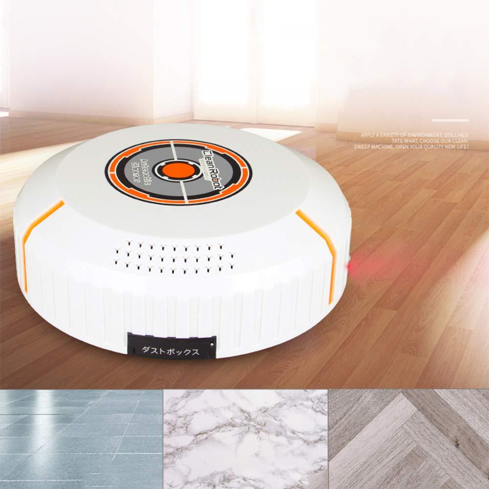 GNB Aspiradora robótica Fuerte suCción para Piso Duro y moqueta, Carga USB Inteligente y Anti colisión/caída del Sensor, batería Recargable reemplazable ...