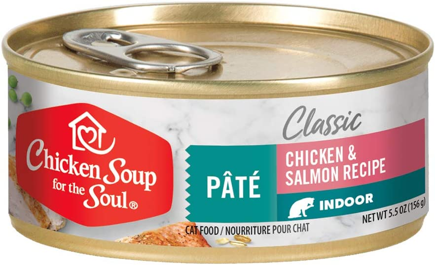 Chicken Soup for the Soul Pet Food - Indoor Cat Wet Food - Chicken & Turkey Pate \ Soy, Corn & Wheat Free, No Artificial Flavors or Preservatives