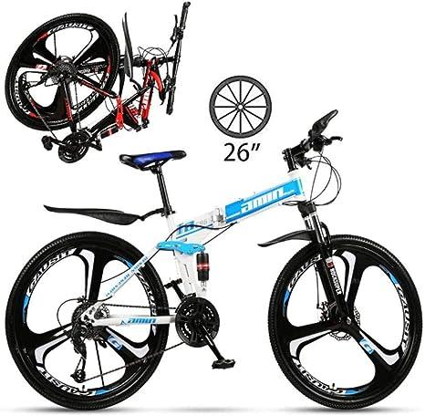 Mountain Bike 26 Inch Full Suspension Trekking Bike Cross Trekking Bike For Adults 21 24 27 Speed Grip Folding Bike Amazon Co Uk Sports Outdoors