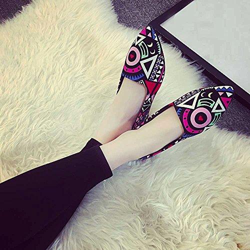 Escarpins Chaussures Multicolor Mocassins Talons Sandales Femme Casual Ete Seasons Femmes Multicolore Slip All On Weant Ballerines tndPt