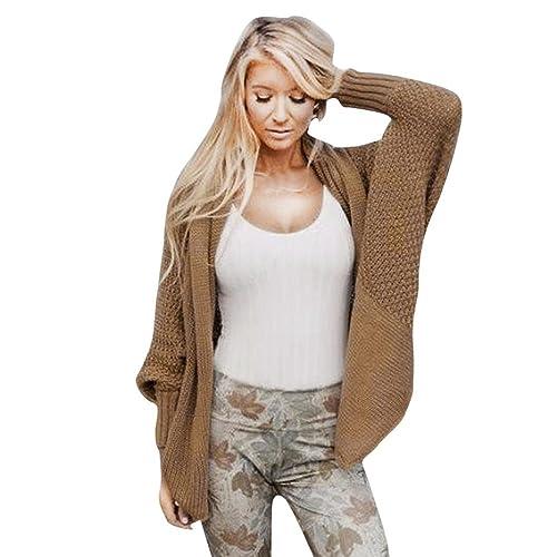 Hiroo Camiseta de manga larga de gran tamaño Retro Casual cubrir hasta abrigo Outwear Suéteres Suave...