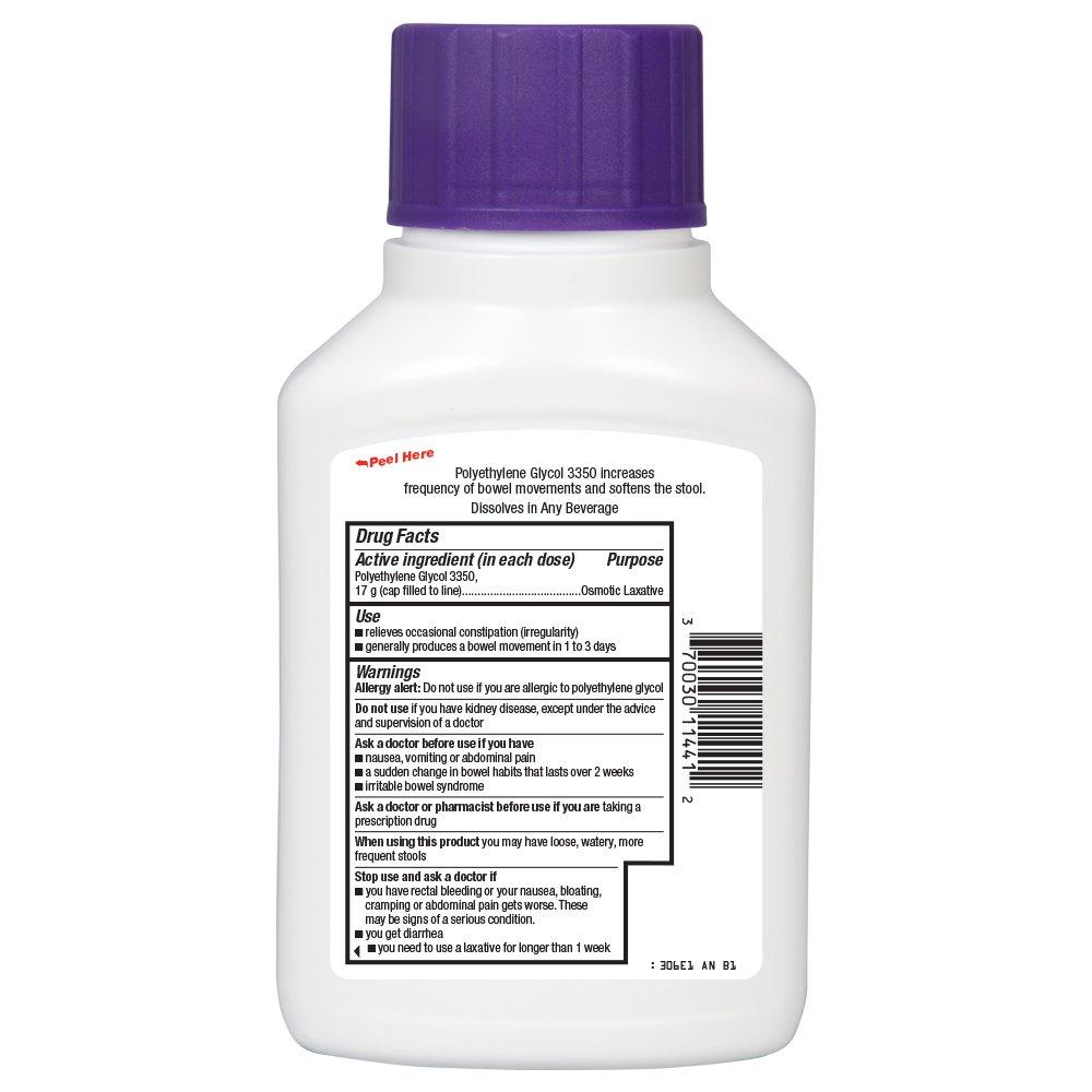 amazon com basic care clearlax polyethylene glycol 3350 osmotic
