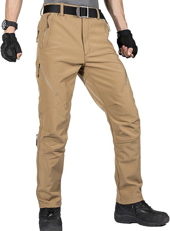 con Morbido Rivestimento Impermeabile e Anti-Vento per attivit/à allaperto Pantaloni da Uomo Uomo Pantaloni Tattici FREE SOLDIER Pantaloni per Arrampicata e Trekking
