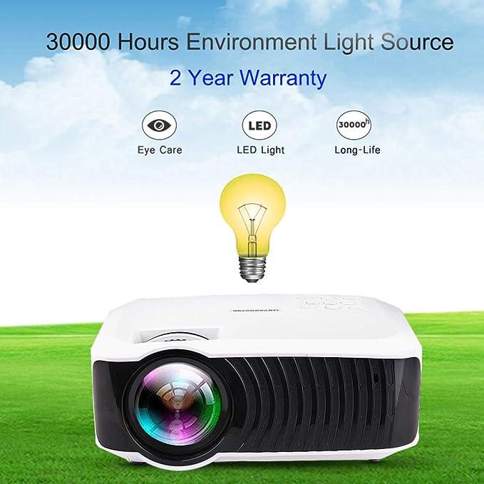 FENGMM Mini Proyector LED 1280X720 Proyector Portátil De Cine En ...