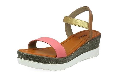0c03f621658 Inc.5 Women's Pink Fashion Sandals-7 UK/India (40 EU) (5639): Buy ...