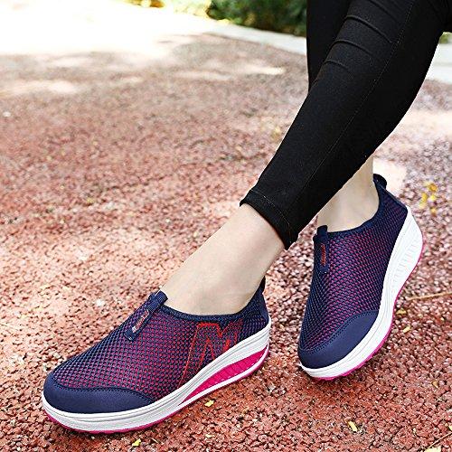 Platform On Women Shape Slip 3306 Blue EnllerviiD Up Dark Fitness Shoes Sneakers Lightweight Walking B8YSTqwq