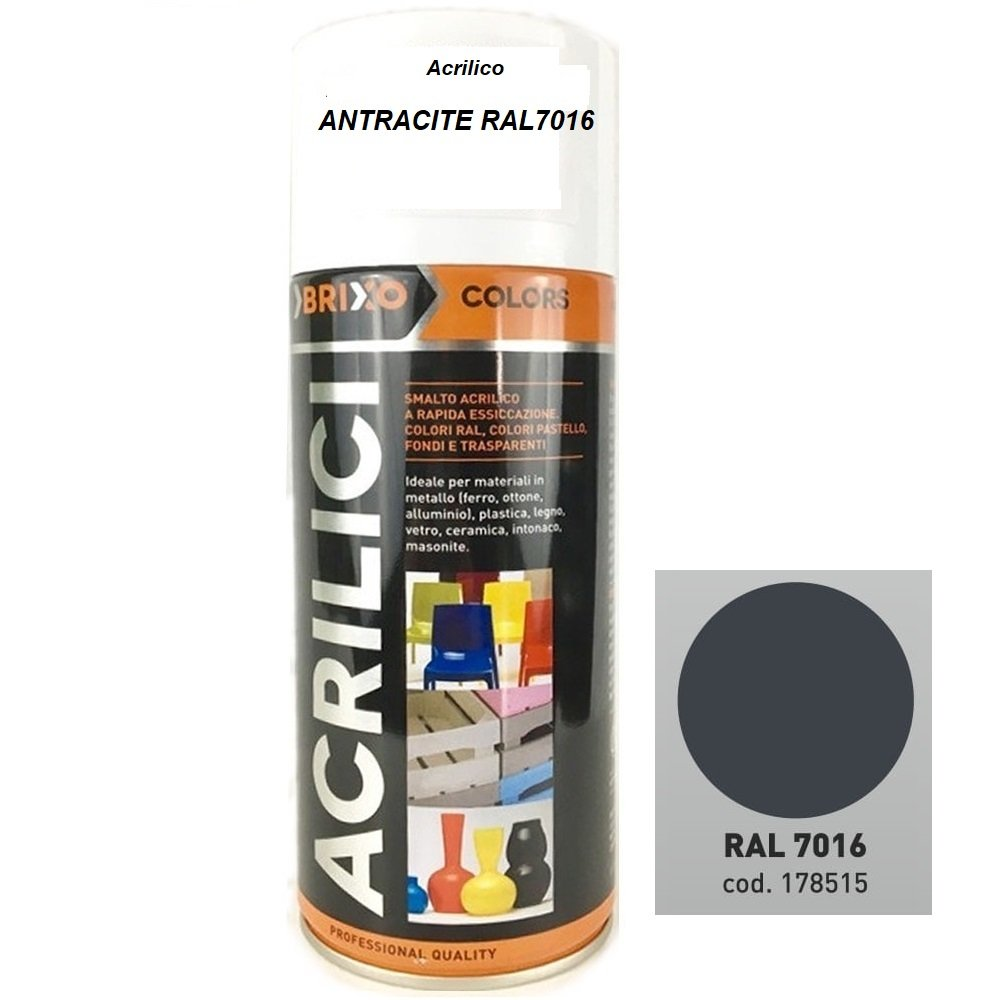 Bomboletta Spray Trasparente Lucido 400ml Vernice Rapida Essiccazzione Acrilica Multimateriale Interno/Esterno Brixo FRASCHETTI