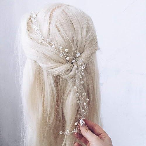 Haardraht Silber Haarranke Haarschmuck Hochzeit Brautschmuck