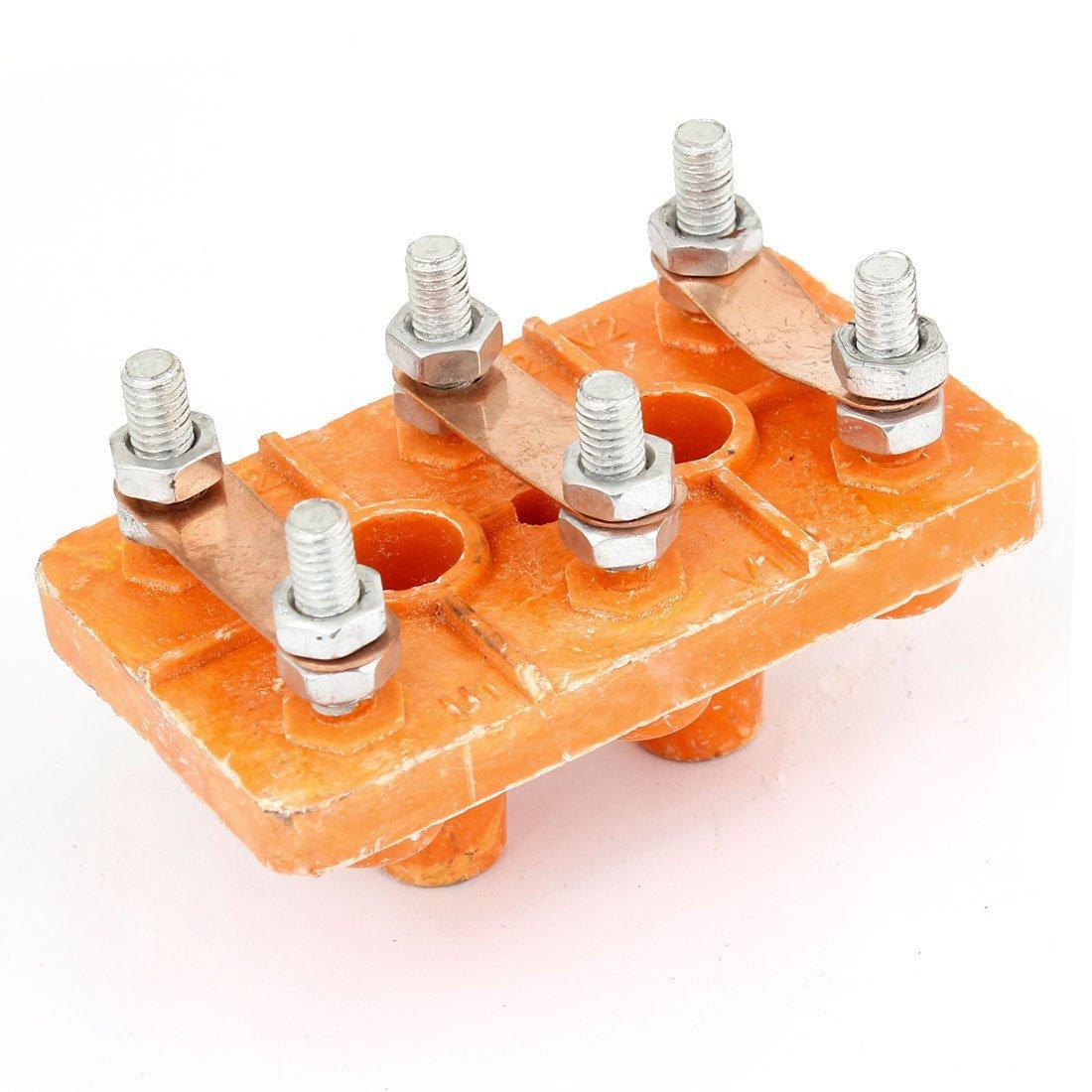 Y160-180 Three-phase Motor Terminal Block Wiring Board Orange DealMux DLM-B00NQ0MWDO