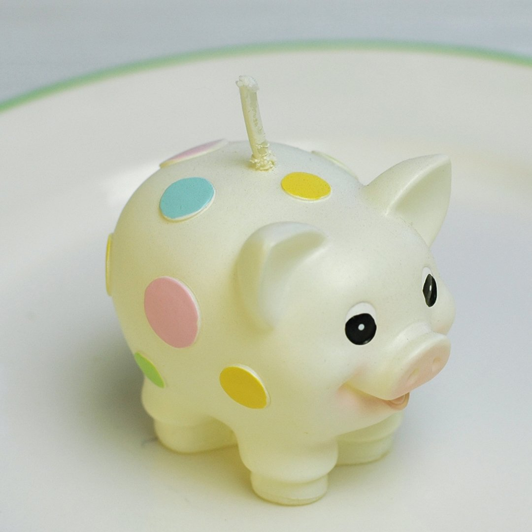 Amazon.com: Birthday Candles Pig Candles Zoo Animal Smokeless Cake ...