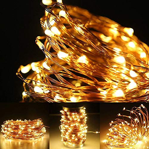 Twinkle Star 200 LED 66ft Fairy Copper String Lights USB & Adaptor Powered, Dimmable Control Starry String Lights Home… 4