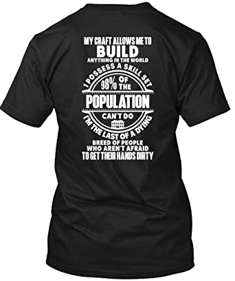 Amazon.com: My Craft Allows Me to Build - Camiseta de manga ...