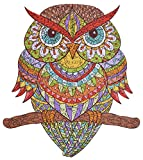 hartmaze Wooden Jigsaw Puzzles - Colorful Owl HM-04 Small Bird Puzzle 206 Unique Shape Jigsaw Pieces-Beautiful Animal Adults Kids- Best Family Game Play Collection.