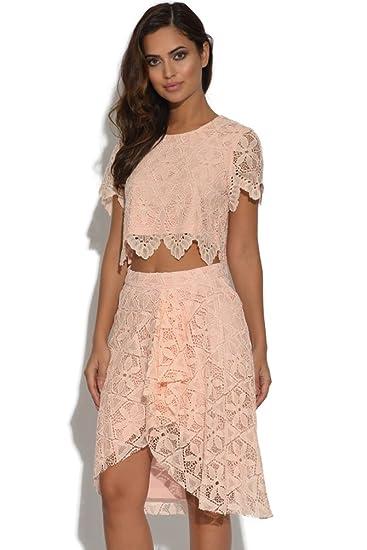 1349b6a52d Vestry Lydia Rose Bright Lace Midi Pencil Skirt: Amazon.co.uk: Clothing