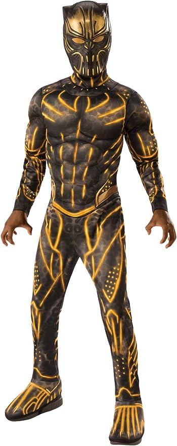 Rubies Costume Co - Marvel: Black Panther Movie Deluxe Boys Erik Killmonger Battle Suit Costume