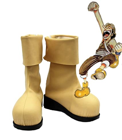 One Piece Anime Usopp Cosplay Shoes Boots Custom Made 1