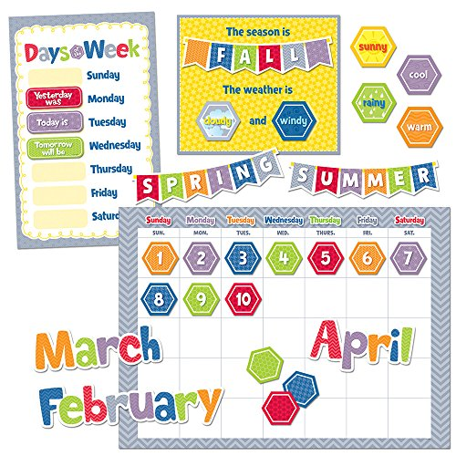 Creative Teaching Press HexaFun Calendar Set Bulletin Board