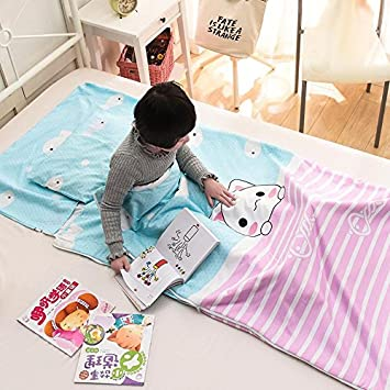 Alta calidad pura algodón - Saco de dormir para bebé Sacos de dormir de dibujos animados para niños en la Guardería con núcleo de Quilt: Amazon.es: Hogar
