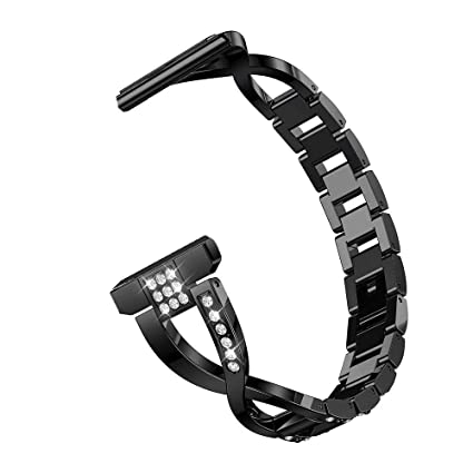 TenCloud Elegant Rhinestone Bracelet Replacement Band Metal of Samsung Galaxy Watch 46mm SM-R800, Samsung Gear S3 Frontier/Classic Watch, Samsung Gear ...