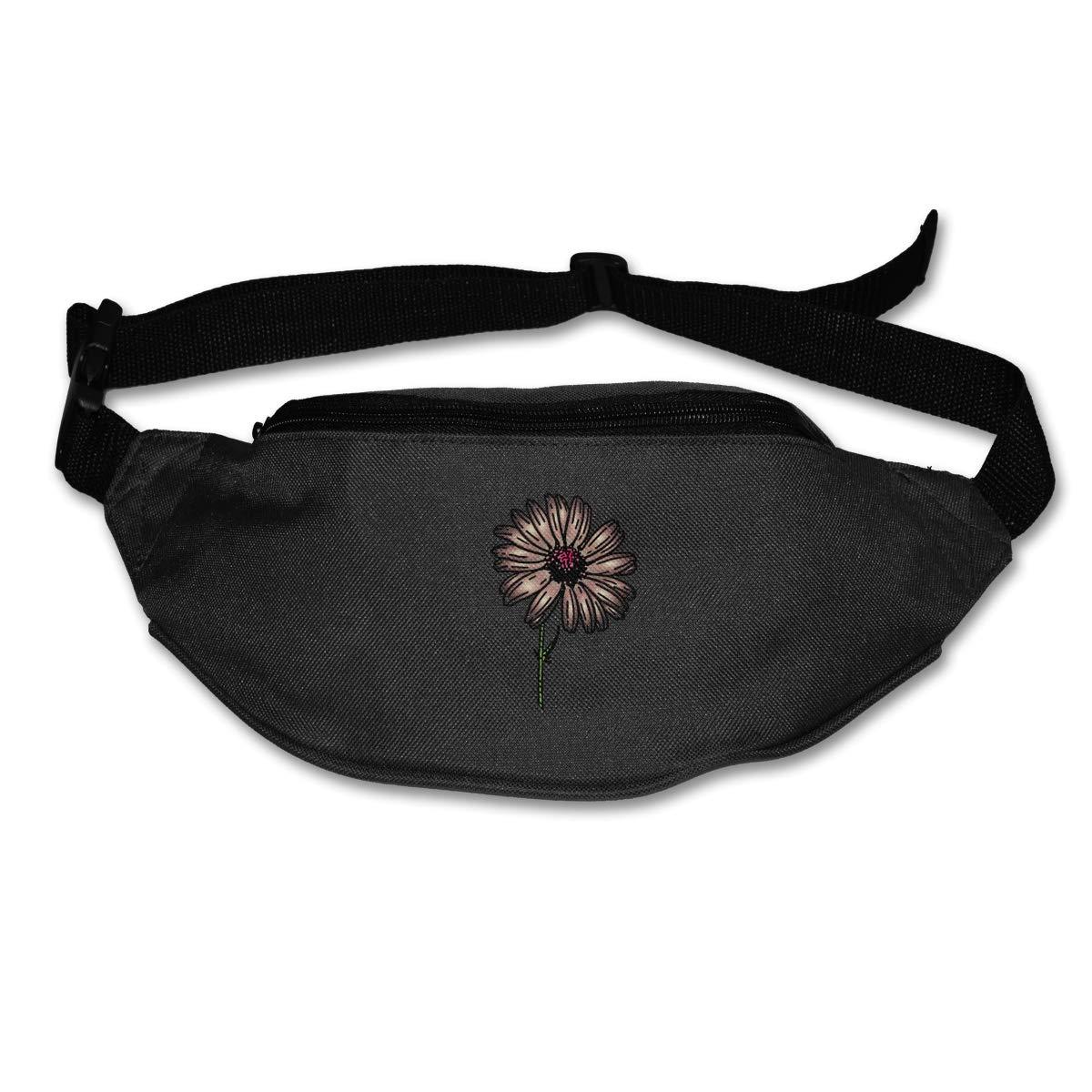 Pretty Daisy Sport Waist Bag Fanny Pack Adjustable For Hike