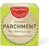 PaperChef 70090 Culinary Parchment Baking Cups, Mini, 90