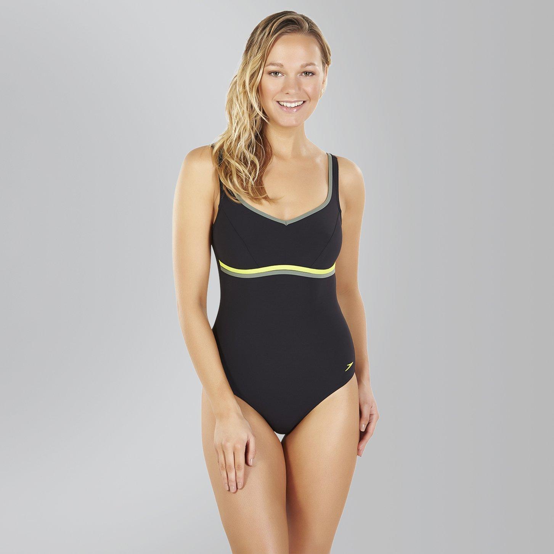 f077a64390b22 Speedo Women's Contourluxe Swimwear (1-Piece): Amazon.co.uk: Sports &  Outdoors