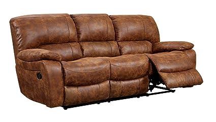 Amazon.com: Furniture of America Theo 2-Recliner Sofa ...