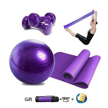 Essential Yoga Starter Set Kit 4pcs,1Yoga Mat 183*80*1.0cm ...