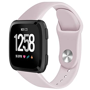 Leless Lightweight For Fitbit Versa Smartwatch Abundant optional colors Soft Silicone Sport Watch Band...