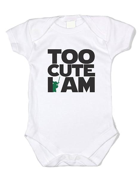 """49a04e7eb Baffle Star Wars Clothes """"Too Cute I Am"""" - White Onesie, ..."""