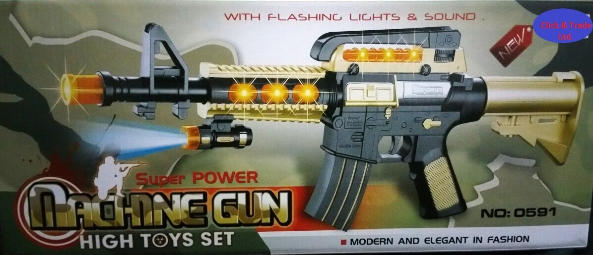 AK Combat Gun Series with Flashing Lights and sound, fire fire and gun sound best boy Kids Toy Xmas Gift Present Click & Trade