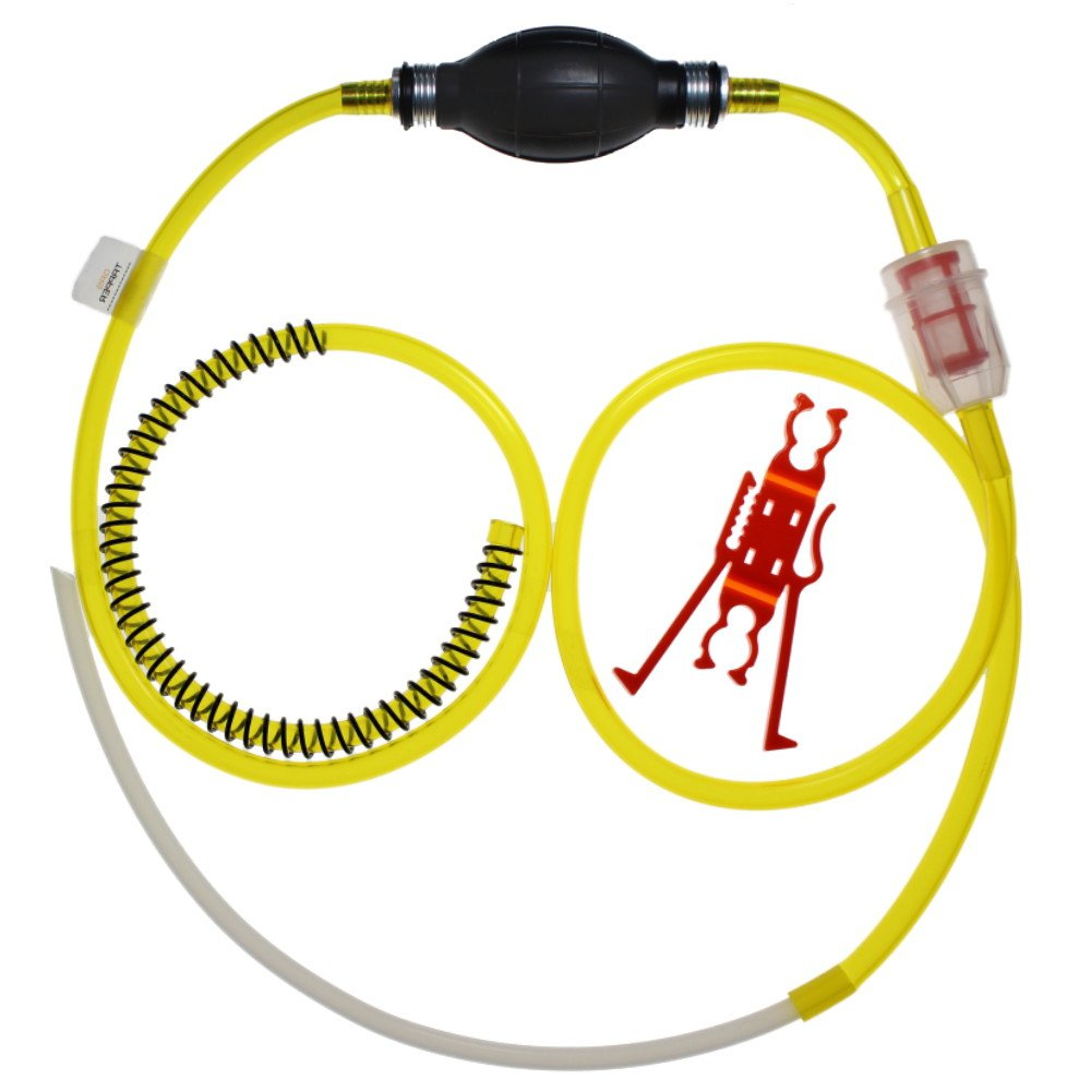 GASTAPPER(TM) Made in USA Gas, Oil, Water, Fluid Changer Siphon Pump for Lawnmowers, ATV's, Quads, 4 Wheelers, Power Equipment, Motorcycles, UTV, Generators, Tractors ATV' s GenTap Power Equipment/Sports Siphon
