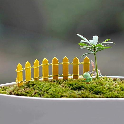 NIAN 1 unid Nueva Mini Valla 10 Colores Popular Lindo decoración del hogar Carne para jardín Kawaii de Madera, Amarillo: Amazon.es: Hogar