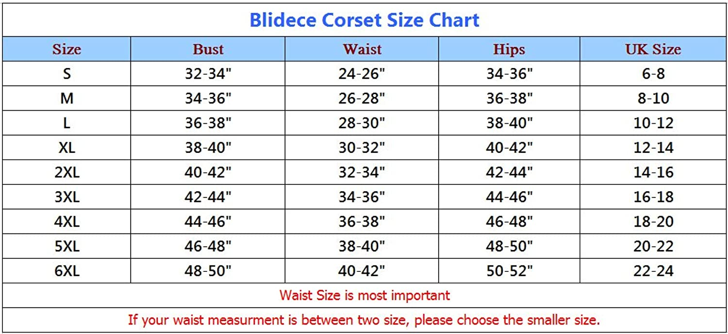 Blidece Women's Sexy Gothic style waist corset with G-string