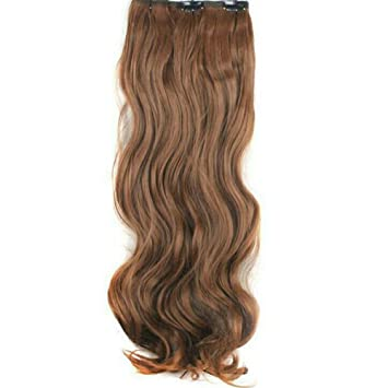 edd4dfb163d Shop Top Premium Celebrity Style Hair Extensions Silky Wavy Hair Synthetic  18 inch Clip On Hair