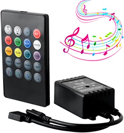 3528 5050 Music Remote for RGB LED Strip Light 20 Key IR Sound Sensor Controller