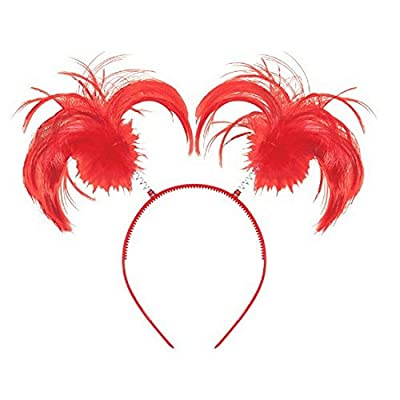 Amscan Ponytail Headband, Party Accessory, Red, One Size - 399414.40: Kitchen & Dining