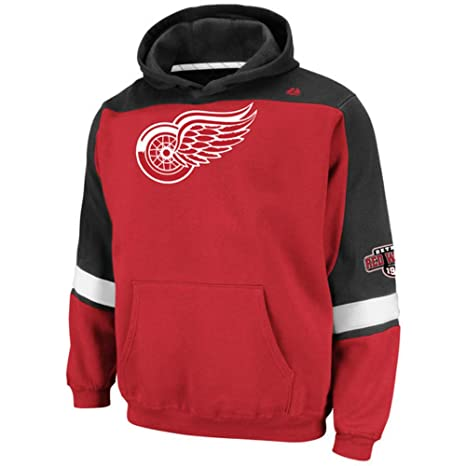 Image Unavailable. Image not available for. Color  Majestic Detroit Red  Wings Youth X-Large XL Hooded NHL Lil Ice Classic Sweatshirt ac488eb88