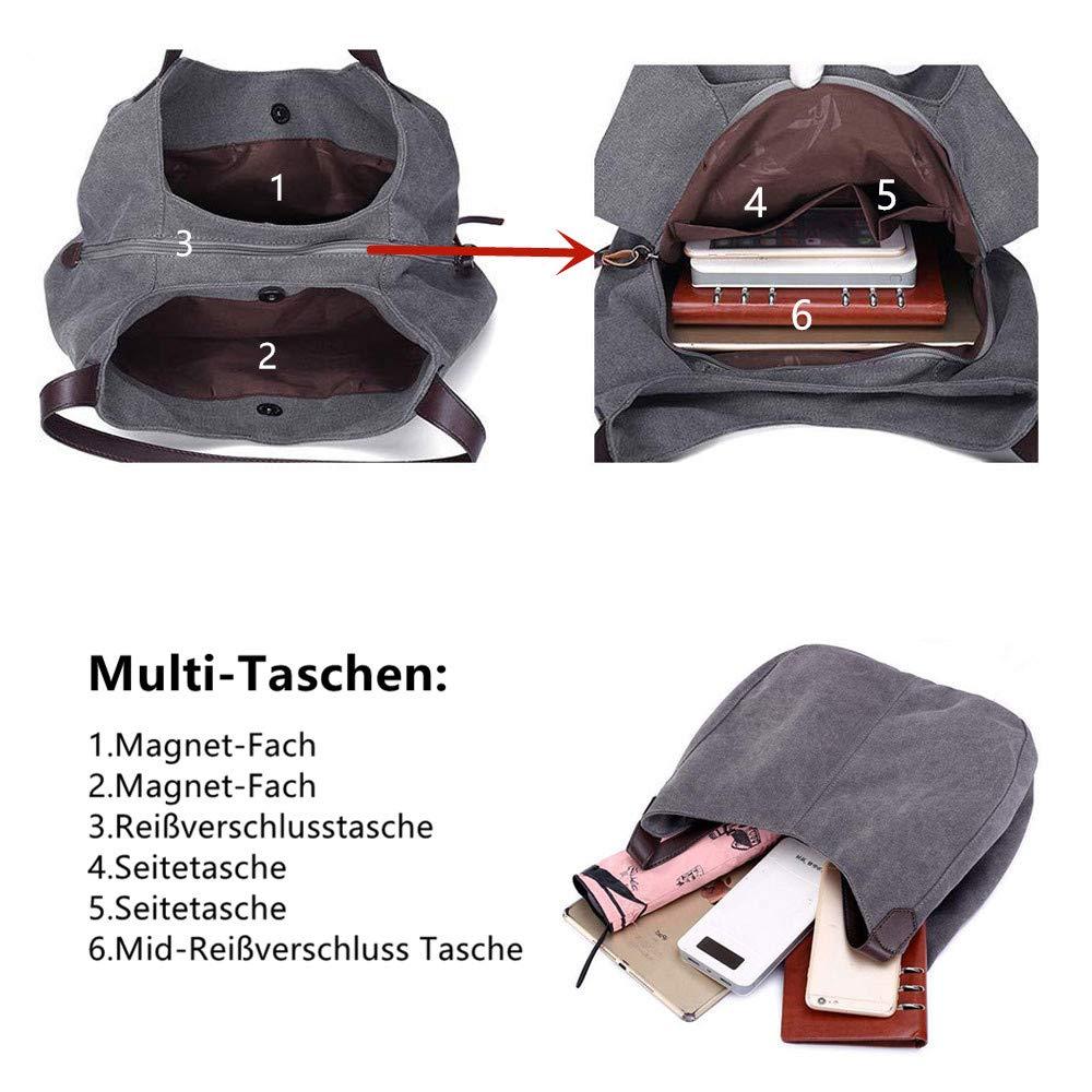 e7772c69ddaee Maysurban Damen Hobo Henkeltasche Beuteltasche Shopper Segeltuch Vintage  Freizeit Stylisch Blau  Amazon.de  Schuhe   Handtaschen