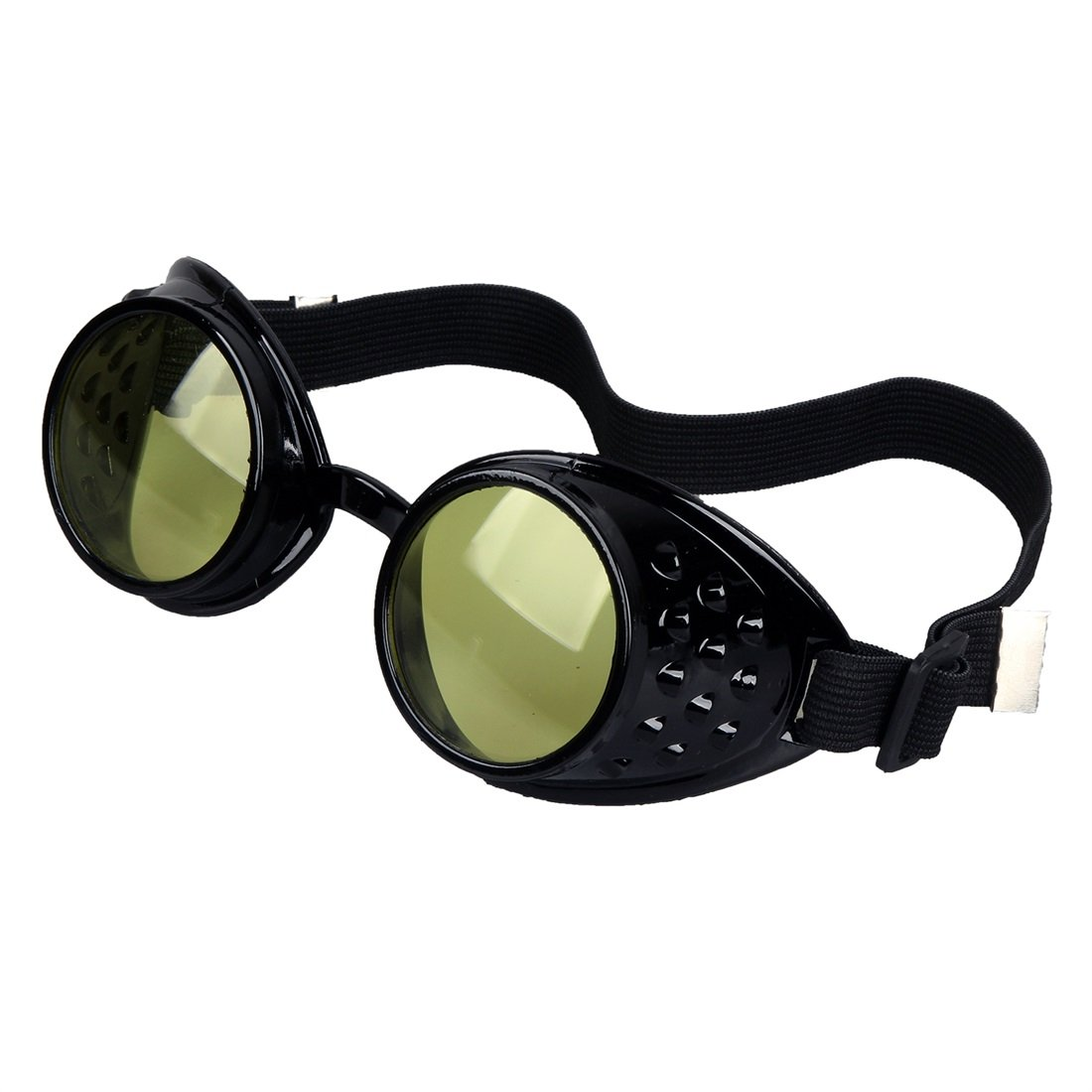 KOLCY Welding Cyber Punk Gothic Steampunk Goggles Cosplay Kaleidoscope Glasses
