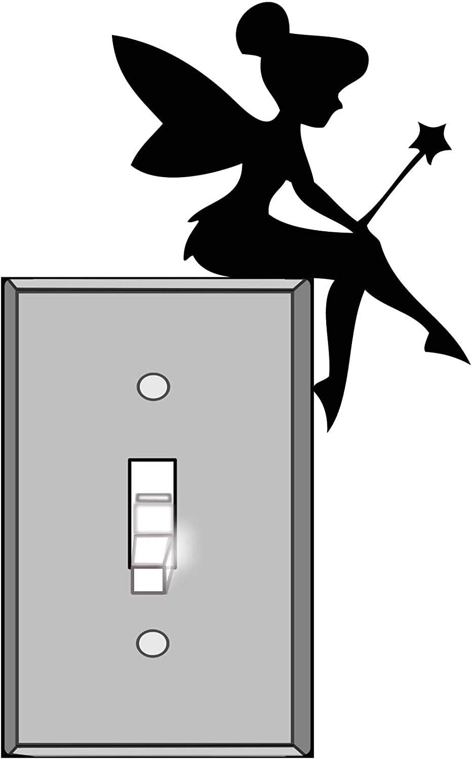 Lightswitch Vinyl Decal Sticker - Tinkerbell Fairy - For wall, vehicle, computer, home decor