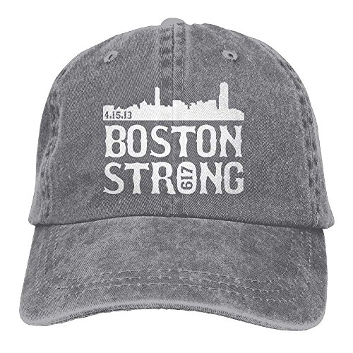 Unisex Boston Strong City Skyline Fashion Cotton Denim Cap Trucker -